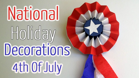 National Holiday Decorations - Rosette