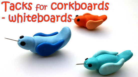 Tacks for corkboards & whiteboards