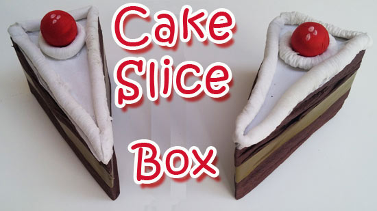 Cake Slice Favor Box