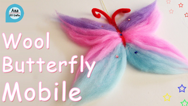 wool butterfly mobile