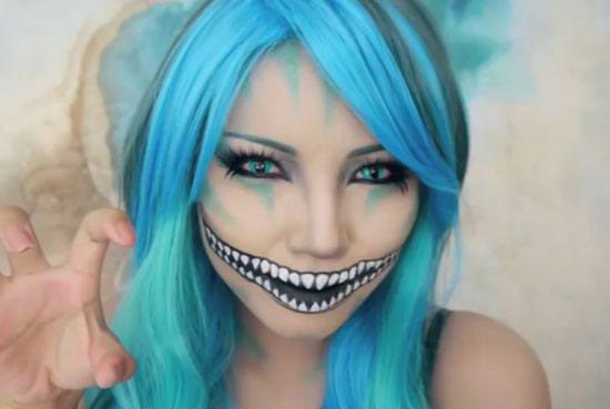 freaky-cheshire-cat-makeup-tutorial