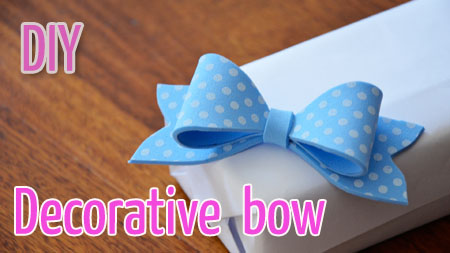 Decorative foam crafts bow