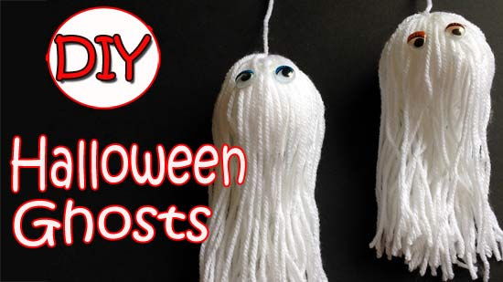halloween wool ghosts