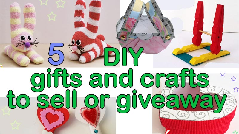 5 Easy DIY gifts and crafts to sell or giveaway