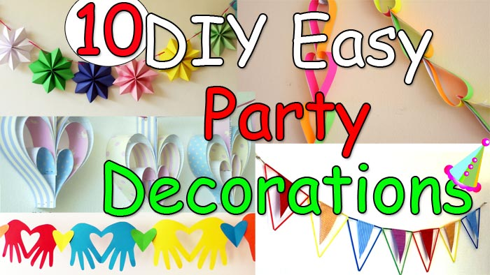 10 DIY Easy Party Decorations Ideas